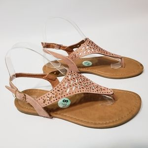 Dolly Mix Sandals Erar-555 Blush Pink Buckle